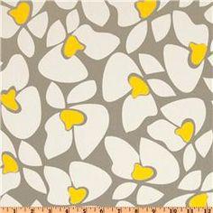 Premier Prints Helen Twill Storm/Yellow