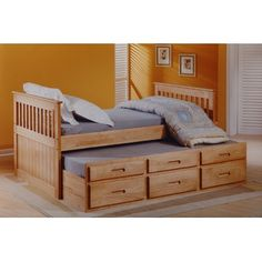 Captain Single Storage Bed Frame With Trundle