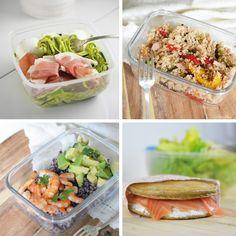 4 déjeuners healthy et IG bas à emporter 4 healthy lunchboxes ideas