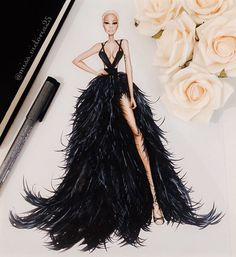 I am in love with this dramatic black dress 🖤