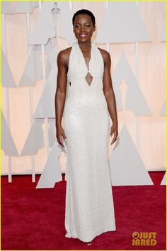 Lupita Nyong'o at the 2015 Academy Awards held at the Dolby Theatre on Sunday (February 22) in Hollywood.