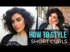 (48) How to Style Short Curly Hair   WET TO DRY Tutorial - YouTube