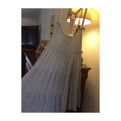 """Crochet Strap Dress Heather gray. Tiered dress. Worn once. Lightweight and breezy. Brand says """"MINE"""" but bought at Urban Outfitters. Can fit a S/M also. Urban Outfitters Dresses"""