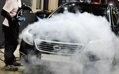 You must be thinking of how steam car cleaning is done. It's obvious that a steamer is used in a Steam Car Wash but there are different methods of a steam wash. Steam Cleaning, Car Cleaning, Steam Car Wash, Car Wash Business, Car Wash Services, Mobile Car Wash, Car Washer, Pressure Washing, Car Engine