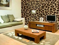 Leopard print walls bachorlette pad