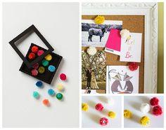 Pompom Pushpins 50 DIY Anthropologie Hacks For Every Facet Of Your Life Diy Origami, Mountain Crafts, Diy Desktop, Diy Y Manualidades, Diy Upcycling, Pom Pom Garland, Handmade Ornaments, Anthropologie, Diy Painting