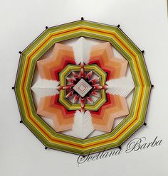 """Healer Mandala Ojo de Dios """"Reiki"""", Fiber art, 12-sided, 50sm, Sharm, cotton, Home decor"""