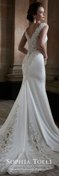 Featured Dress: Sophia Tolli; Wedding dress idea.