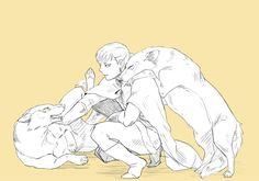 Isfan and his lovey-dovey wolves, Arslan Senki fanart