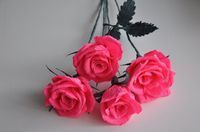 In this video i show you how to make a huge crepe paper rose this another rose of crepe paper easy beautiful and very decorative mightylinksfo