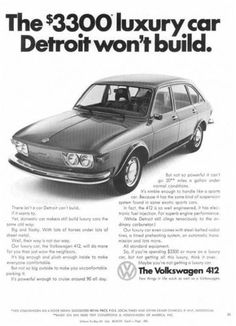 1973 Volkswagen 412 - perfect