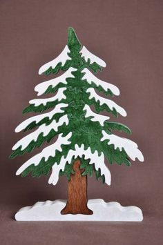Beautiful Hemlock Pine Christmas Tree Puzzle Wooden By Puzzimals