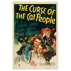 The Curse Of The Cat People Movie Poster - 1944 Vintage Classic Horror Drama Film Print Size 18 x 24 inch by graficaitalia on Etsy