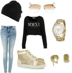 Cute Swag Outfits for Teens Swag Outfits For Girls, Hip Hop Outfits, Dope Outfits, Girl Outfits, Casual Outfits, Hip Hop Fashion, Dope Fashion, Teen Fashion, Womens Fashion