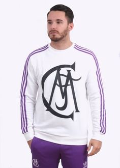 Adidas Originals Apparel Real Madrid Crew Sweater - Black / Purple