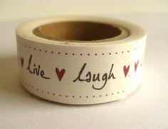 Masking Tape - Masking Tape - Live laugh love ♥ - ein Designerstück von Utenliesjen bei DaWanda