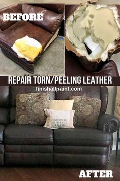/bond-n-flex-kit-contains-bond-n-flex-brush-choice-paint/ leather couch Bond-N-Flex Kit, Finish All-In-One Paint Leather Furniture Repair, Leather Repair, Patch Leather Couch, Leather Couches, Leather Couch Decorating, Reupholster Couch, Couch Makeover, Leather Restoration, Diy Couch