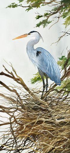 Herons Nest Painting  - Herons Nest Fine Art Print by James Williamson.