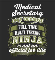 ENDING SOON - MEDICAL SECRETARY - Fabrily