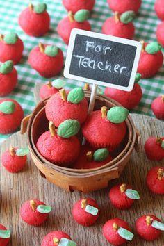 Galletas caseras con forma de manzana