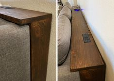 Behind the Couch Console Table Plans, Couch table Furniture Projects, Home Projects, Geek Furniture, Diy Furniture Easy, Modern Furniture, Farmhouse Furniture, Furniture Storage, Furniture Design, Diy Storage Couch