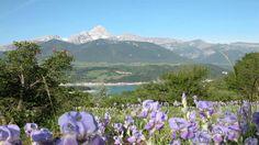 Des décors naturels exceptionnels tel que le lac du Sautet, à Superdévoluy