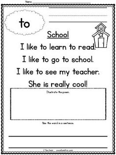 Sight Word Poems {First 100 Sight Words} by Jodi Southard Words For Teacher, Letter To Teacher, Kindergarten Reading Activities, Literacy, Site Words, Phonics Words, English Reading, Preschool Letters, Reading Passages