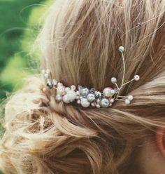 Haarkamm Jasmin Jasmin, Bobby Pins, Hair Accessories, Beauty, Ball Hairstyles, Bridesmaids, Schmuck, Hairpin, Hair Accessory