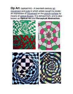 Op ARt lesson- movement depth and color contrast | Lesson Ideas ...