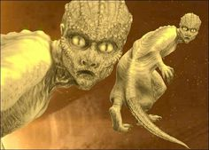 Reptilian - A race of alien reptile-like humanoids that are said to live in caves and tunnels beneath the Earth's surface; It is believed that they have a secret cult-like society and have been responsible for disappearances throughout history.
