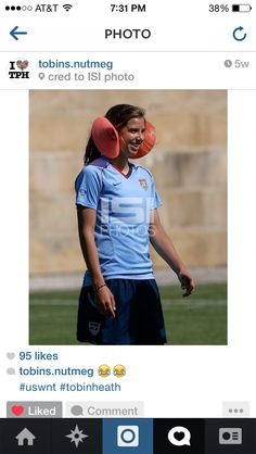 I think I just found the greatest picture ever! Tobin Heath