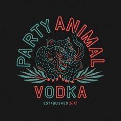 Design for Party Animal Vodka by RiseWise #vintage #branding #design #art #lifestyle #artwork #graphicdesign #drawing #lettering #artdirection #illustration #illustree #handdrawn #chill #tattoo #embroidery #tattooart #inked #サーフィン #デザイン #vintagelettering #イラスト #typetopia #logoinspirations #visualgraphc #foreign #oriental #カリフォルニア #ビンテー