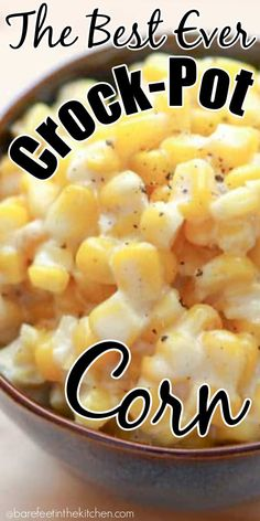 You're going to want this corn on your holiday table! You're going to want this corn on your holiday table! Crockpot Side Dishes, Side Dishes For Bbq, Crock Pot Cooking, Vegetable Side Dishes, Side Dish Recipes, Vegetable Recipes, Vegetable Dishes For Christmas, Slow Cooker Recipes, Crockpot Recipes