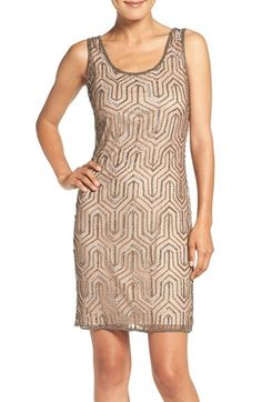 Pisarro Nights Embellished Mesh Sheath Dress available at #Nordstrom  $158