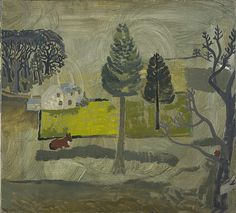 Ben Nicholson, 1928 (Walton Wood Cottage no. oil on canvas, 56 x 61 cm, Scottish National Gallery of Modern Art. Cottage In The Woods, Wood Cottage, Landscape Art, Landscape Paintings, Tree Paintings, Galerie D'art Moderne, Gallery Of Modern Art, Abstract Painters, Art Uk