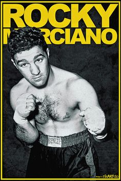 Rocky Marciano was as big as it got when it came to sports in the He is easily the most famous boxer of all time. From he never lost a single fight in the ring. Mma Boxing, Boxing Workout, But Football, Boxing Posters, Professional Boxing, Boxing History, Boxing Champions, Sport Icon, Combat Sport