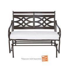 Hampton Bay Middletown Patio Glider with Cushion Insert (Slipcovers Sold Separately)