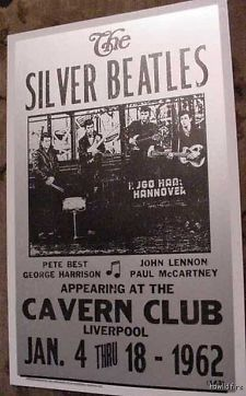 the beatles posters | VINTAGE THE SILVER BEATLES CONCERT POSTER 1962 60'S ART CAVERN CLUB ...