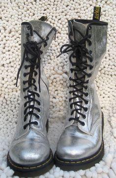 Dr Martens RARE CELESTE *Angel Wings* 14 hole boots/side zips.UK 6 ...