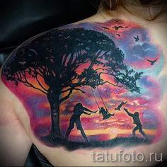 тату закат солнца - фото классной готовой татуировки от 14072016 23