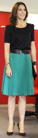 Crown Princess Mary of Denmark - 2013 in a Baum and Pferdgarten skirt. ('Sidse' Collection autumn 2012)