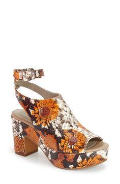 Delman 'Daisy' Platform Peep Toe Sandal (Women) available at #Nordstrom
