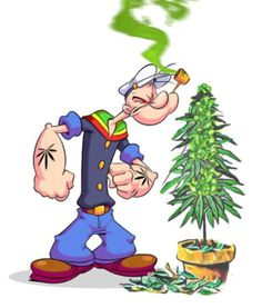 Popeye's green plant wasn't spinach, it was cannabis! Cannabis art via Weed Pictures, Funny Pictures, Comic Cat, Weed Wallpaper, Medical Marijuana, Marijuana Funny, Vintage Cartoon, Smoking Weed, Caricatures