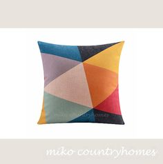 $15 | Throw Pillow Cover | Modern Geometric Decorative Pillows | 43x43cm 17x17 | Pillow Cushion Covers | Modern Home Decor | Minimalistic Pillows