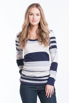 Hailey Top - Navy Stripe