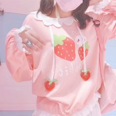 A kawaii collection of adorable crewnecks, hoodies, jackets, coats, and long sleeve shirts made of quality fabrics! Taking inspiration from kawaii and harajuku fashion. Harajuku Fashion, Kawaii Fashion, Cute Fashion, Fashion Outfits, Fashion Styles, Aesthetic Fashion, Aesthetic Clothes, Pretty Outfits, Cool Outfits