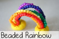 Love love love this! Beaded Rainbow - - Re-pinned by @PediaStaff – Please Visit http://ht.ly/63sNt for all our pediatric therapy pins