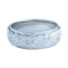 Hawaiian Heirloom Jewelry Double Band Sterling Silver Ring | Jewelry Mall