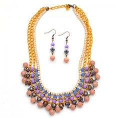 Collar Etnik Morado  Compra tus accesorios en www.dulceencanto.com #accesorios…