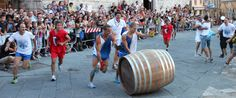 2016 - Bravio delle Botti - Barrels Competition and Festival, Aug. 28, in Montepulciano (Siena); this event dates back to the 14th century when the race was run on horseback. Only in more recent times, it has been transformed in a competition with barrels (botti).